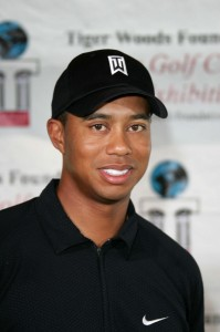 at a press conference for the Tiger Woods Youth Foundation Youth Clinic, Miller Golf Course, Anaheim, CA 08-28-04